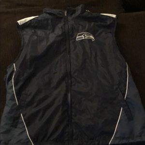 Seahawk reversible flees vest, bought, never worn